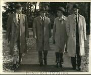 1959 Press Photo Dr. Milton Eisenhower And Colleagues At Johns Hopkins Campus