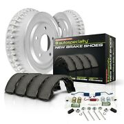 Koe15274dk Powerstop New 2-wheel Set Brake Drum And Shoe Kits Rear For Chevy