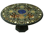 48 Marble Coffee Table Top Multi Stone Mosaic Inlay With 18 Stand Decors B699