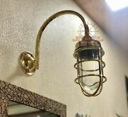 Nautical Arched Swan Neck Exterior Antique Galvanized Wall Decoration Light 1ps