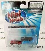 N Scale 1954 Ford F-250 Pickups 2 - Red And Blue - Mini-metals 50360