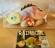 Error Wrong Name On Tags Ty Beanie Baby - Rainbow Tag Izzy Ultra Rare