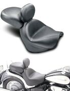 Mustang Two Piece Wide Touring Original Seat W/ Backrest For Suzuki 79283