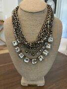 + Isabel Statement Necklace Torsade Antique Brass Plated Two Necklaces