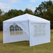 Two Windows And Doors Waterproof Folding Tent Camouflage Outdoor White Camping New