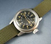 Vintage Bulova Mil-w- 3818a Hack Us Military Pilots Mens Watch Stainless 1960