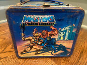 Vintage He-man Masters Of The Universe Metal Lunchbox Aladdin 1983