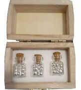 31.103 Grams Of .9999 Fine Silver Shot Pure In Glass Vials Bullion Rounds Coin