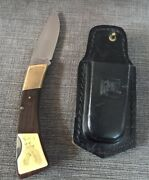 Jet-aer Corp. G96 No.7001 Lockback Knife With Sheath Made In Japan