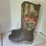 Womens Under Armour Real Tree Muck Boots Size 9 Hunting Waterproof