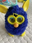 2012 Hasbro Furby Boom Starry Night Blue And Yellow Interactive Talking Toy