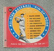 Ted Williams 1950 All Star Baseball Pin-up Book - Cover Only