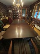 Antique Mahogny Dining Room Table And Chairs