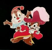 Disney Store Chip And Dale As Pirate Captain Hook And Mr. Smee Halloween Jumbo Pin