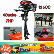 7hp 4stroke 196cc Outboard Motor Fishing Boat Engine Air Cooling Shaft 50cm Sale