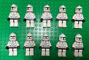 Lego Star Wars Clone Trooper Minifigure Lot 10 Total Excellent Condition Army