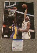 Myles Turner Signed 8x10 Photo Indiana Pacers Psa/dna Authenticated Ai90427