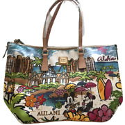 Dooney And Bourke Disney Aulani Hawaii Mickey Mouse Minnie Mouse Tote Bag 0712 M