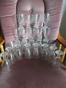 Vintage Anchor Hocking Boopie Stemware Clear Glass Candlewick 4 1/2 Set Of 23