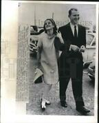 1967 Press Photo Luci And Pat Nugent Leaving St. Francis Xavier Catholic Church