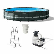 Intex 20and039 X 48 Ultra Xtr Frame Above Ground Pool Set With 3 In Chlorine Tablets