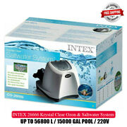 Intex 26666 Ozone And Saltwater System For Swimming Pool 56800l   15000 Gal   220v