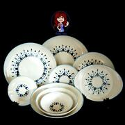 Monmouth Marcrest Stetson Swiss Alpine Chalet Dinnerware Oven Proof Made In Usa