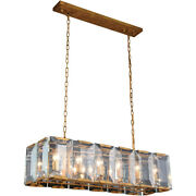 Chandelier Golden Iron And Glass Foyer Kitchen Dining Room Fixtures 12 Light 40