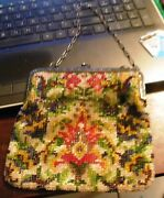 Vintage Beaded Change Purse Made In Germany Circa Early - Mid 1800s