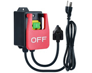 110v Single Phase On/off Switch , Ortis Router Table Switch With Large Stop Sign