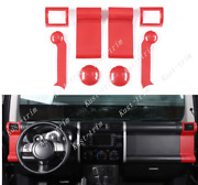 For Toyota Fj Cruiser 07-2014 Carbon Fiber Red Left And Right Air Outlet Vent8