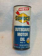 Vintage Sunoco Outboard Motor Oil Can....all Steel And Full Un-opened