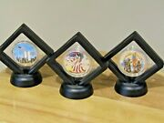 2001 Never Forget Silver American Eagle Set Painted / Colorized 9/11 Memorial