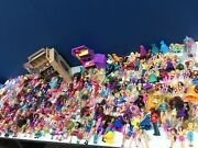 Vtg And Modern Lot 15 Pounds Loose Mixed Toy Dolls Figures Polly Pocket Lalaloopsy