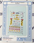 N Scale City Signs For Streets And Buildings Decals - Microscale 60-275