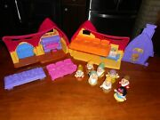 Fisher Price Little People Snow White And 7 Dwarfs + Cottage + Bed + Table