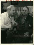1982 Press Photo Carroll Oand039connor And Don Rickles In Archie Bunkerand039s Place