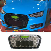 Fit For Audi A4 B9 2017-2019 Abs Black Front Center Mesh Grille Grill Cover Trim