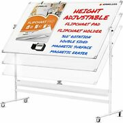 Mobileboard - Large Height Adjust 360anddeg Rolling Double Sided Dry 96x46 White