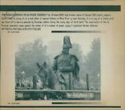 Statue German Century Employ And His Horse Sit Empe - Vintage Photograph 3728021
