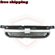 New Front Grille Grill Chrome And Black Assembly Fits 07-11 Chevrolet Aveo Sedan