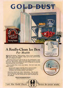 1923 Gold Dust Washing Powder Color Baby Bottles Refrigerator Print Ad