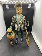 Vintage 1930s Marx Joe Penner And His Duck Goo Goo Tin Wind Up Toy Marx Working