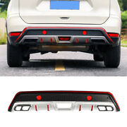 Black And Red Rear Bumper Diffuser Board Guard 1pcs Fit For Nissan Rogue 2017-2020