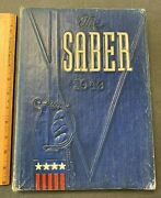 1943 The Saber Kentucky Military Institute Antique Ww2 Class Yearbook 71421