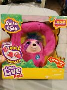 Little Live Pets Rollo The Sloth Interactive Plush Toy New