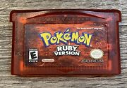Pokemon Ruby Version Gameboy Advance Authentic. Tested.