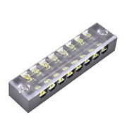 600v 15a 8 Positions Dual Rows Covered Barrier Screw Terminal Block Strip _pf