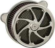 Harddrive Air Cleaner Flow Chrome For Twin Cam And Evo F2121c-acbt