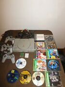 Vintage 1998 Sony Play Station With 9 Games